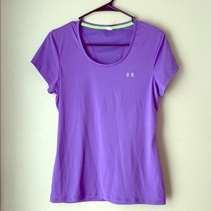 Purple Under Armour Workout Top